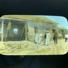 China Magic Lantern Slide Photo Hand Color Chinese Mud Building