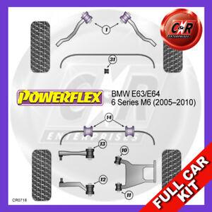 Fits BMW E63/E64 6 Series M6 (2005 - 2010)  Powerflex Complete Bush Kit
