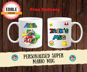 Personalised Super Mario Coffee/tea mug Birthday Christmas Childrens Gift