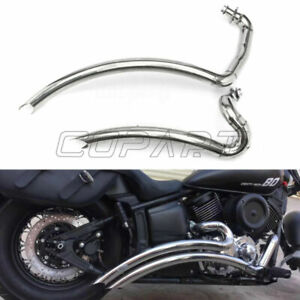 Shortshots Staggered Exhaust Pipe  Kit For Yamaha V star 1100 XVS1100 all year
