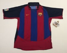 Barcelona Nike Home Football Shirt Jersey 2003/04 (L) Vintage Retro Camiseta