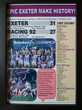 More details for exeter chiefs 31 racing 92 27 - 2020 champions cup final - framed print
