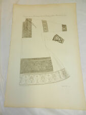 1806 French Antique Print/CHARLEMAGNE-TYPE CLOTHING IN 1790