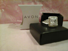 AVON Cz Bling Cocktail Ring - CLEAR - SIZE 10