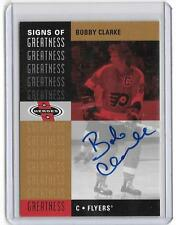 BOBBY CLARKE 2001 UPPER DECK SIGNS OF GREATNESS AUTOGRAPH AUTO SP!!