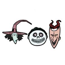 Set of 3 Lock, Shock, & Barrel Iron-On Patches NBC Trick-Or-Treat Kids Appliques