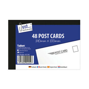 48 Plain White Post Cards 140 x 100 - Holiday Competition Mailing Pad Mail