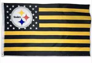 Pittsburgh Steelers 3 x 5 ft banner flag NFL football Fast USA shipping