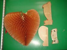 Jc187 Vintage Lot of 1940's Valentines Day Decor Honeycomb Hearts Cupid