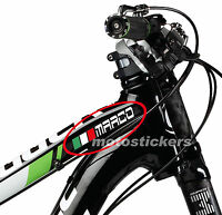 2 Nomi adesivi bici + bandiera - Bicicletta - decal stickers