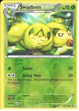 POKEMON BLACK AND WHITE LEGENDARY TREASURES - SWADLOON 11/113 REV HOLO