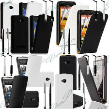 Accessoires Housses Coque Etui PU Cuir Noir HTC One, One X S SV, Desire C X, 8S