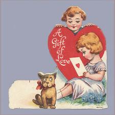Vintage Valentine's Day Card 1920s Germany Gift of Love Valntine