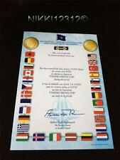 NATO LIBYA UNIFIED PROTECTOR MEDAL CERTIFICATE IN MINT CONDITION