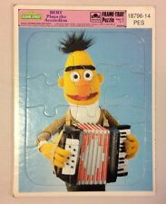 SESAME STREET GOLDEN FRAME PUZZLE BERT PLAYS THE ACCORDIAN 1986 VINTAGE TOY