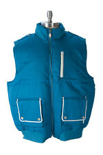 MEEZAN Men's Peacock Blue Outerwear Vest SO600 $90 NEW