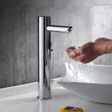 Hoch Infrarot Sensor Wasserhahn Waschtischarmatur Mischbatterie Bad Armatur DHL