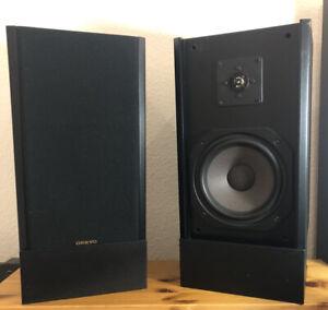 Onkyo SC-460 2 Lautsprecher Boxen, 110 Watt 6 Ohm inkl. 2 Boxenständern schwarz