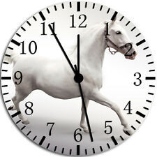 White Horse Frameless Borderless Wall Clock Nice For Gifts or Decor W55