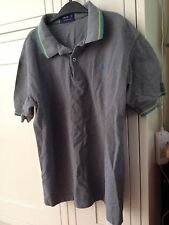 FRED PERRY POLO T SHIRT XL GREY MOD