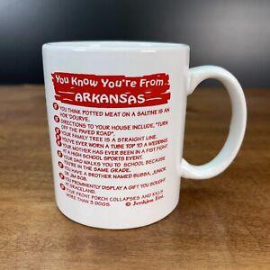 """You Know Your From Arkansas"" SOUVENIR COFFEE MUG"
