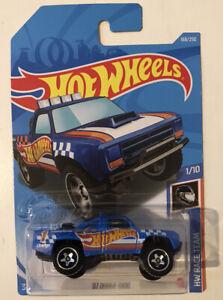 2021 HOT WHEELS #168 '87 Dodge D100 (Blue HW Race Team Long Card) New & Unopened