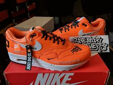 free shipping b008d 8efe8 Nike Air Max 1 SE JDI Just Do It Total Orange White Black Running Men AO1021