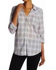NEW Soft JOIE Brady Blouse Top Soft grey Plaid shirt Size XS $158 RUNS BIG