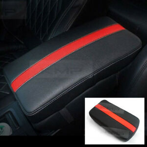 Sports Center Console Line Armrest Support Cushion Red Accessory For CADILLAC