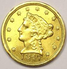 1847-C Liberty Gold Quarter Eagle $2.50 Coin - Xf Details - Rare Charlotte Coin!