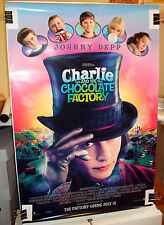 Charlie and the Chocolate Factory Johnny Depp Double Sided Movie Poster - A