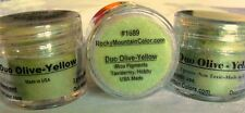 MICA~PIGMENT~TAXIDERMY~PAINT~FISH~BIRD~CRAB~#1689~GREEN~YELLOW~LOOSE POWDER~RMC