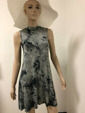 Boho Tie-Dye Mock Neck  Dress Summer Beach  Evening Party casual