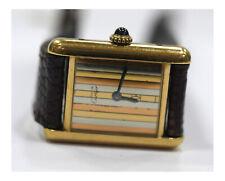 Cartier Must de Paris Swiss 925 Argent Plaque Or G 20M Wristwatches / From 1$