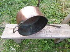 Casserole Cuivre Diamètre 26 cm Cuisine Ancienne Hygiène Résistance Stabilité