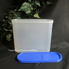 Tupperware NEW MODULAR Mates SUPER OVAL # 4 Container Brilliant Blue Pour Seal