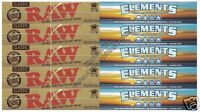 ELEMENTS AND RAW HEMP KING SIZE SLIM ROLLING PAPERS KINGSIZE SET
