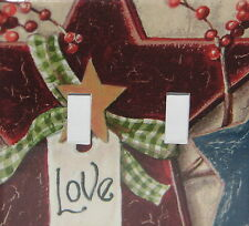 Star Love Berries double toggle switch plate light cover