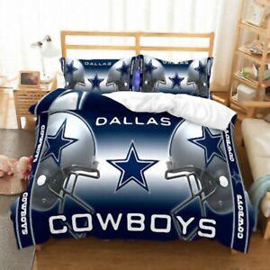 Dallas Cowboys Quilt Cover 3PC Bedding Set Duvet Cover Cover Pillowcase Fan Gift