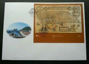 [SJ] Portugal Cultural Inheritance 2001 Map Route Ship Sailboat (miniature FDC)