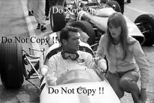 "James Garner & Francoise Hardy Filming the Movie ""Grand Prix"" 1966 Photograph"