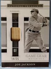 Joe Jackson 2020 National Treasures Used Bat Relic #18/25 Chicago White Sox