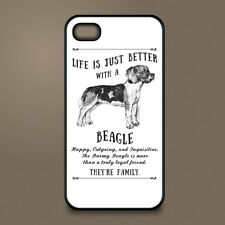 Beagle dog phone case cover Apple iPhone Samsung Galaxy ~ Personalised