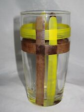 "Metlox Vernon Kilns ORGANDIE 5 1/4"" Tall Glass Tumbler"