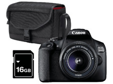 Cámara réflex - Canon EOS 2000D + Objetivo 18-55mm f/3.5-5.6, 24.1 MP, Full HD