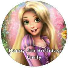 "Disney Princess Rapunzel Personalised Cake Topper Edible Wafer Paper 7.5"""