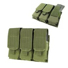 Tactical PALS MOLLE AR M4 5.56/.223 Triple Magazine Pouch Mag Holder Bags Green
