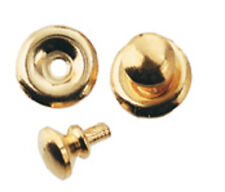 Six Traditional Gold Door Knobs With Backplate, Dolls House Miniature, 1.12th