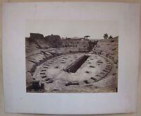 1860ca ANFITEATRO POZZUOLI Robert Rive n.108 fotografia animata albumina 25x20cm