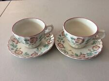 Churchill Briar rose Made In Stafford England Cup And Saucer X 2